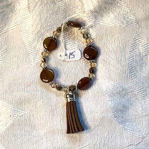 Smokey Quartz stretch bracelet